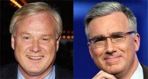 Matthews and Olbermann. <i>Getty images</i>