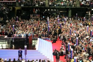 The first full day began Tuesday at the Republican National Convention in St. Paul, MN