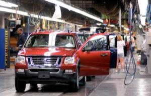 The Ford assembly line in Wayne, Michigan