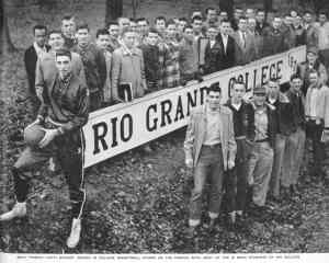 Bevo Francis and his Rio Grande College teammates and classmats in 1953. Photo: Life magazine