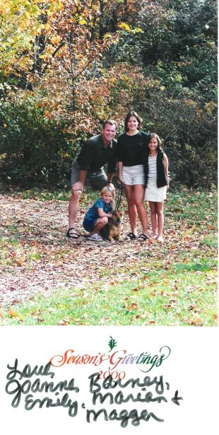 2000 Gahanna, Ohio with our first dog Magger.