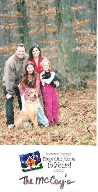2002 Gahanna, Ohio with our new cat Mesa.