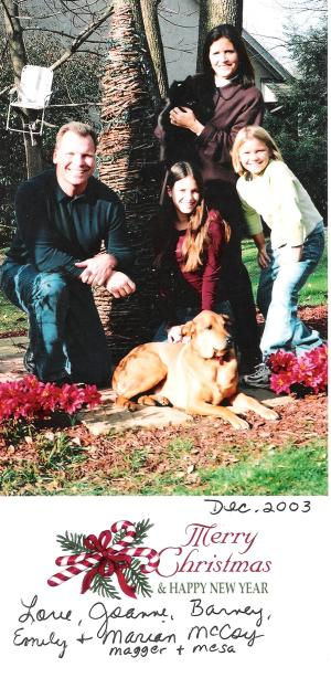 2003 Gahanna, Ohio. It's tricky getting pets to sit still for family photos.
