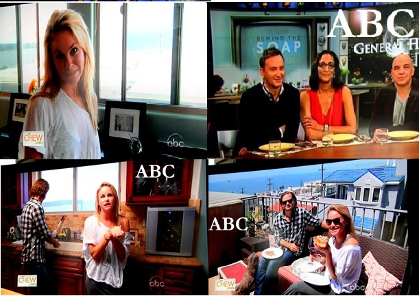 "ABC broadcast a segment   of The Chew featuring ""General Hospital"" soap opera star Julie Marie Berman's chicken pizza recipe while President Barack Obama told American's on the other TV networks that an agreement on the ""fiscal cliff"" budget negotiations was within sight."
