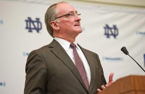 Despite conflicting information in Manti Te'o's story, Notre Dame Athletic Director Jack Swarbrick stands by him. Photo: US Presswire