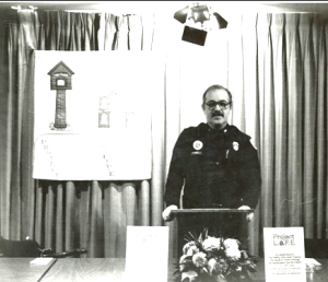 Harold Knabe established several public fire safety programs in his role as public information officer for the KCMO Fire Department.