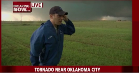"""That was the scariest moment of my life,"" the Weather Channel's Mike Bettes said after he and his crew were hit and suffered minor injuries as they tried to outrun a tornado they spotted in El Reno, Okla."