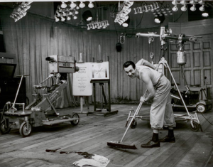 Don Meier in the early days of Chicago television in the 1940s where being a TV pioneer meant you did everything from producing TV programs to sweeping the floors after their conclusion.