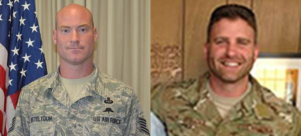 Tech. Sgt. Marty Bettelyoun (left) and Tech. Sgt. Timothy Officer Jr. Air Force Special Operations Command