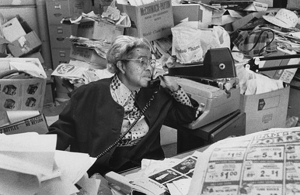 Lucile Bluford as publisher of The Call in Kansas City, Missouri in the late 1990's.
