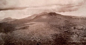 Bud Bagsak mountain on Jolo Island was the stronghold of Dato Amil and his Moro warriors. Photo: Library of Congress